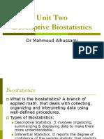 Descriptive Statistics Unit 2