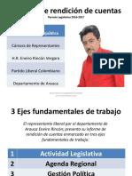 Rendición de cuentas Representante Eneiro Rincón