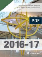 Dublin Airport Winter Timetable 2016