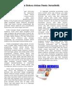Bahasa Indonesia_Penggunaan Bahasa dalam Dunia Jurnalistik