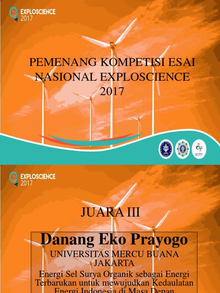 Pemenang Kompetisi Esai Nasional Exploscience 2017