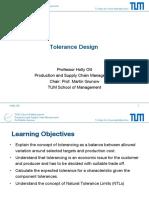 8-1 LECTURE Tolerance Design Part1