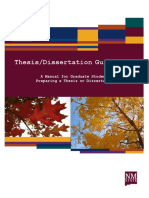 Thesis or Dissertation Guideline