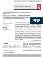 Simulation and Process Integration for Tert-Amyl-methyl Ether