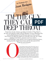 "Vanity Fair's I am the man they used to call ""Deep Throat"""