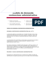 Modelo de Demanda Contencioso Administrativo