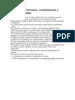 Principales Formatos de codificación de video