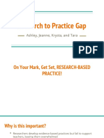 research to practice gap presentation