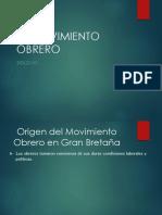 El Movimiento obrero siglo xix