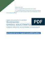 Finantari 2.1.A.-Microintreprinderi