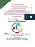 112.KnowledgeSeekersWorkshopesUnofficialTranslationSpanish