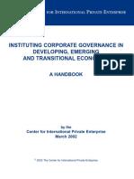 Corporate Governance Handbook