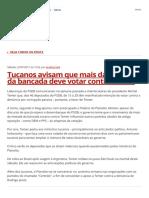 Tucanos Avisam Que Mais Da Metade Da Bancada Deve Votar Contra Temer _ Blog Blog Da Andréia Sadi Da Rede Globo