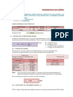 Parametros Del Reservorio Chicñahui Perfil