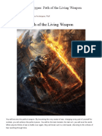 Path of the Living Weapon (Barbarian)