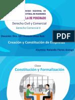 Constitucion Empresa DerechoComercial