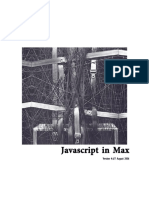 Javascript en  Max MSP