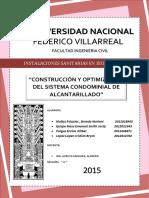 CONSTRUCCIÓN Y OPTIMIZACIÓN DEL SISTEMA CONDOMINIAL DE ALCANTARILLADO