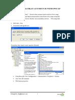 Cara Mematikan Autorun Di Windows Xp