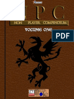d20 Adamant Entertainment NPC (Non Player Compendium) Volume 1