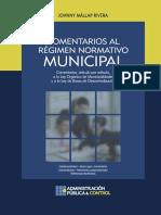 Comentarios Al Regimen Normativo Municipal Peruano