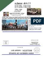 Jodo Mission Bulletin - August 2017