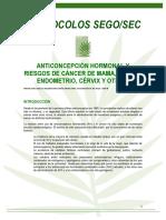 PS Anticoncepcion Hormonal y Riesgo de Cancer