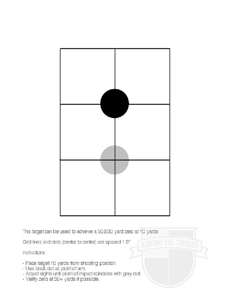 Luscious image throughout printable 50 yard zero target