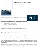 Dimensionamento de Sistemas Solares Fotovoltaicos