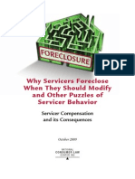 Why Sevicers Foreclose