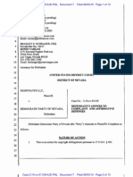 Democratic Party of Nevada Answer to Righthaven Copyright Infringement Complaint