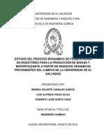 Canales 2010 Estudio Del Proceso de Fermentación en Digestores de La UES