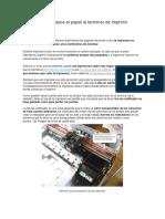 Impresora HP Atasca El Papel Al Terminar de Imprimir