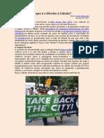 O Que é o Direito à Cidade
