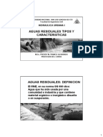 Aguas Residuales Tipos y Caracteristicas