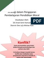 Strategi Dalam Pengajaran Pembelajaran Pendidikan Moral