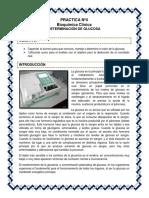 Practica Nº 4 Bioquimica - Determinación de Glucosa