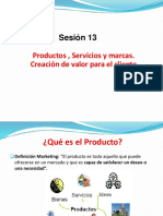 Productos , Servicios y Marcas. Creación de Valor Para El Cliente