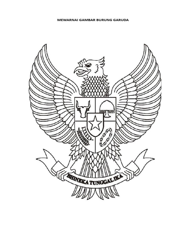 Mewarnai Gambar Burung Garuda
