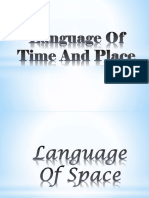 Language Of time and space