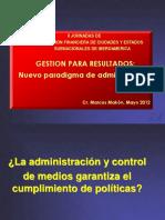 Makón, Marcos 2012 Gestión Para Resultados - Nuevo Paradigma Para La Admón - II Jornadas AdFinancCiudsyEdosSubNacsIberoam