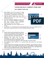 Usage Guide for Contactless Multi Currency Forex Card