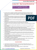 Current Affairs Weekly Pocket PDF 2017 - May (8-14) by AffairsCloud