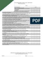 SJK Year 1 LS Checklist and PBS