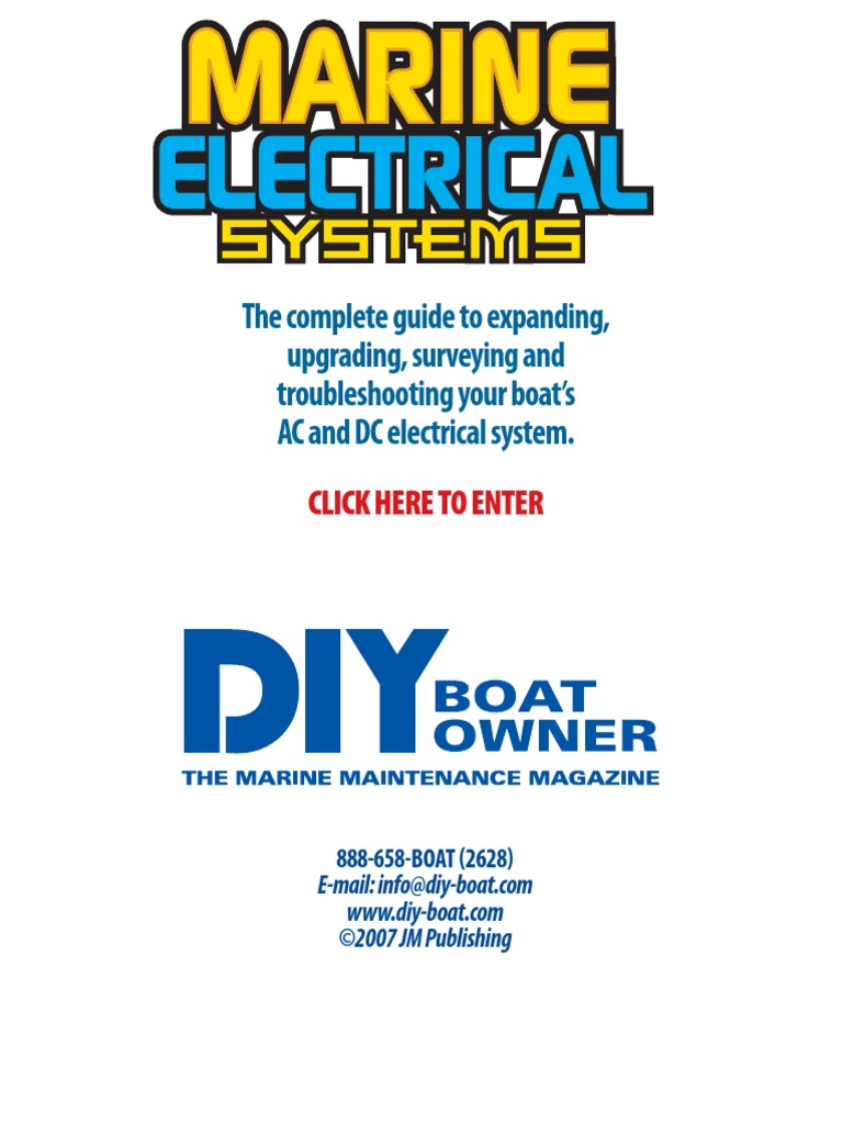 Marine Electrical Systemspdf Wiring Direct Current Blue Seas Ac Circuit Breakers Alternating Are
