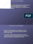 Bad 5313 Business Level Strategies