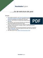 Cópia de [Template] Como Estruturar Um Post de Blog
