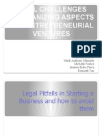 Group3_legal Challenges & Organizing Aspects for Entrepreneurial Ventures