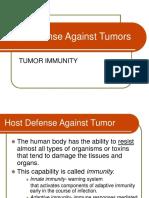 Host Defense Against Tumors
