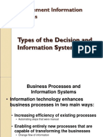 Chap 2 & 12 Types of Decision and Information System